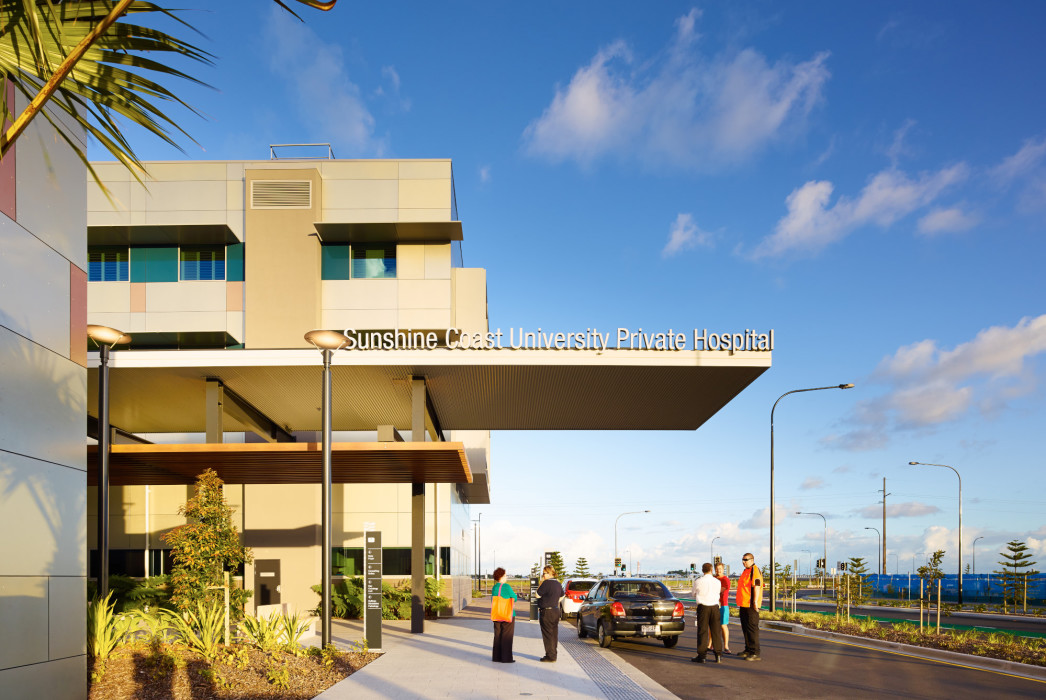 Sunshine Coast University Private Hospital, Ramsay Health Care, Phillips Smith Conwell, PSC Architects, SCUPH, Hospital architecture, australian architecture, queensland architect, brisbane architect, sunshine coast architect, health design, health architecture