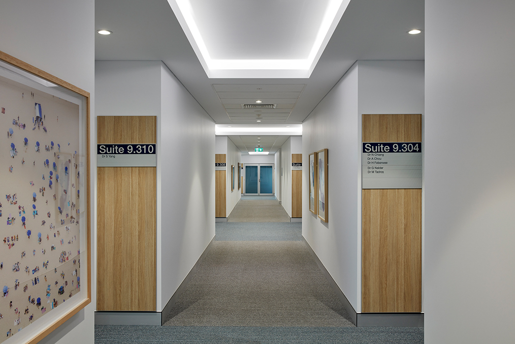 Nicholson Street Specialist Suites, Greenslopes Hospital, Phillips Smith Conwell architects, Brisbane architects. Queensland architects. healthcare design, hospital architecture, medical suite design