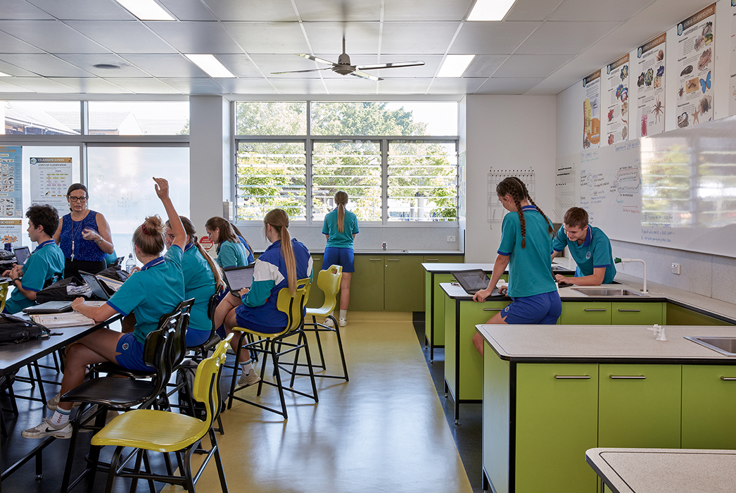 Phillips Smith Conwell, Brisbane Architect, Queensland architect, catholic education, brisbane catholic school, school architecture, school refurbishment, secondary school design, australian architecture, science labs, science learning, STEAM
